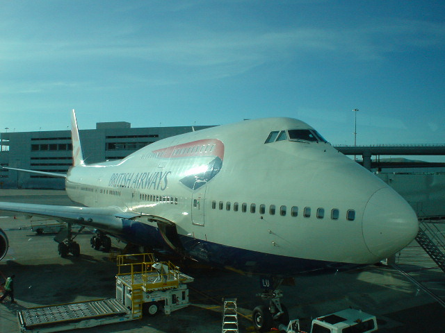 Our British Airways 747 to London