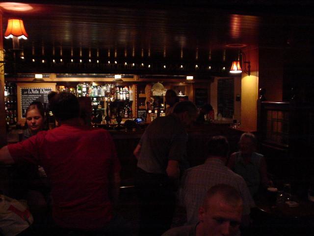A typical British pub ... and dark