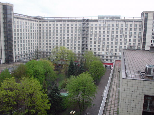 The inner courtyard at the Rossiya
