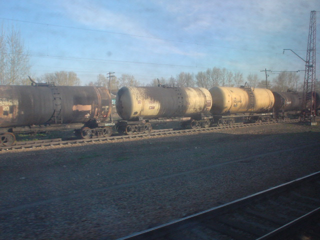 Passing a freight train