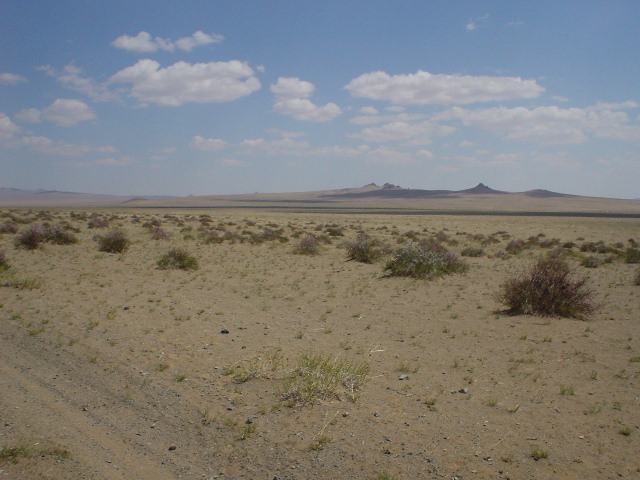 The scenery as you drive in Mongolia