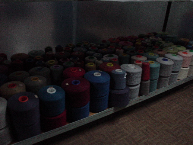 Cashmere yarn at the Gobi Factory in Ulaan Baatar