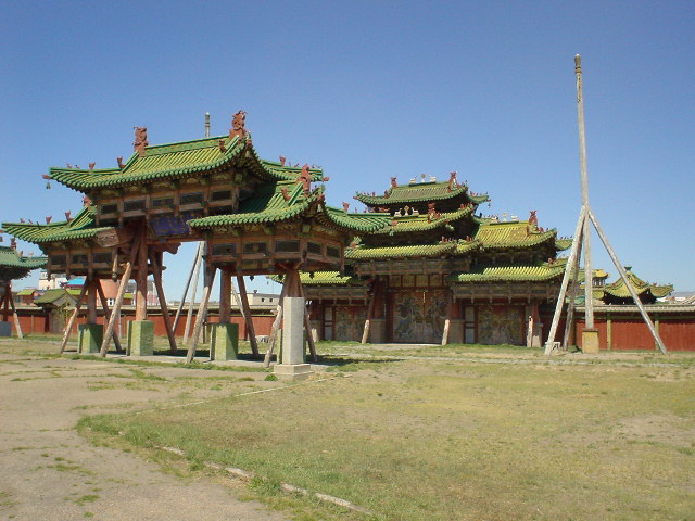 The gates of the Bogd Khan's Summer Palace