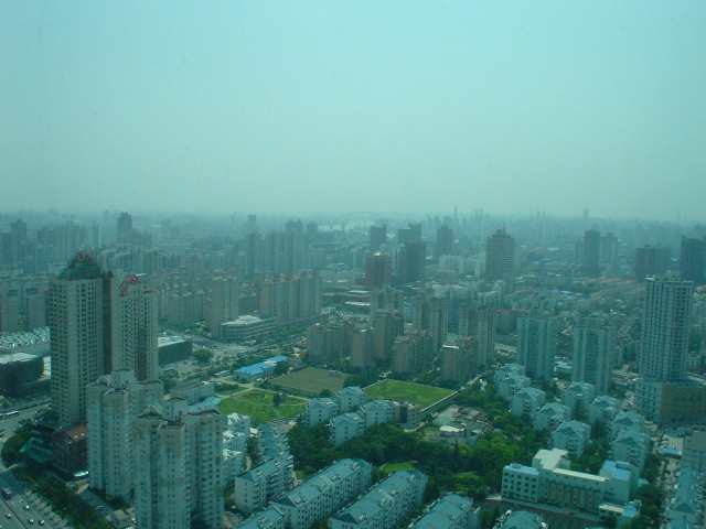 View from our hotel in Shanghai
