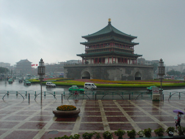Bell Tower in the rain