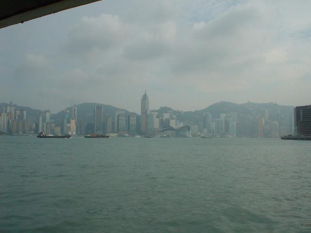Across Hong Kong harbour from Tsim Sha Tsui